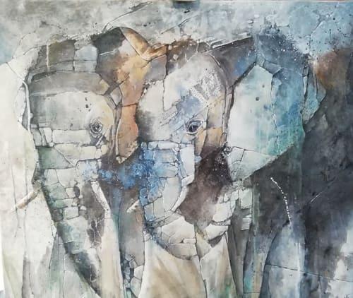eléphants artiste peintre décorateur paris 77