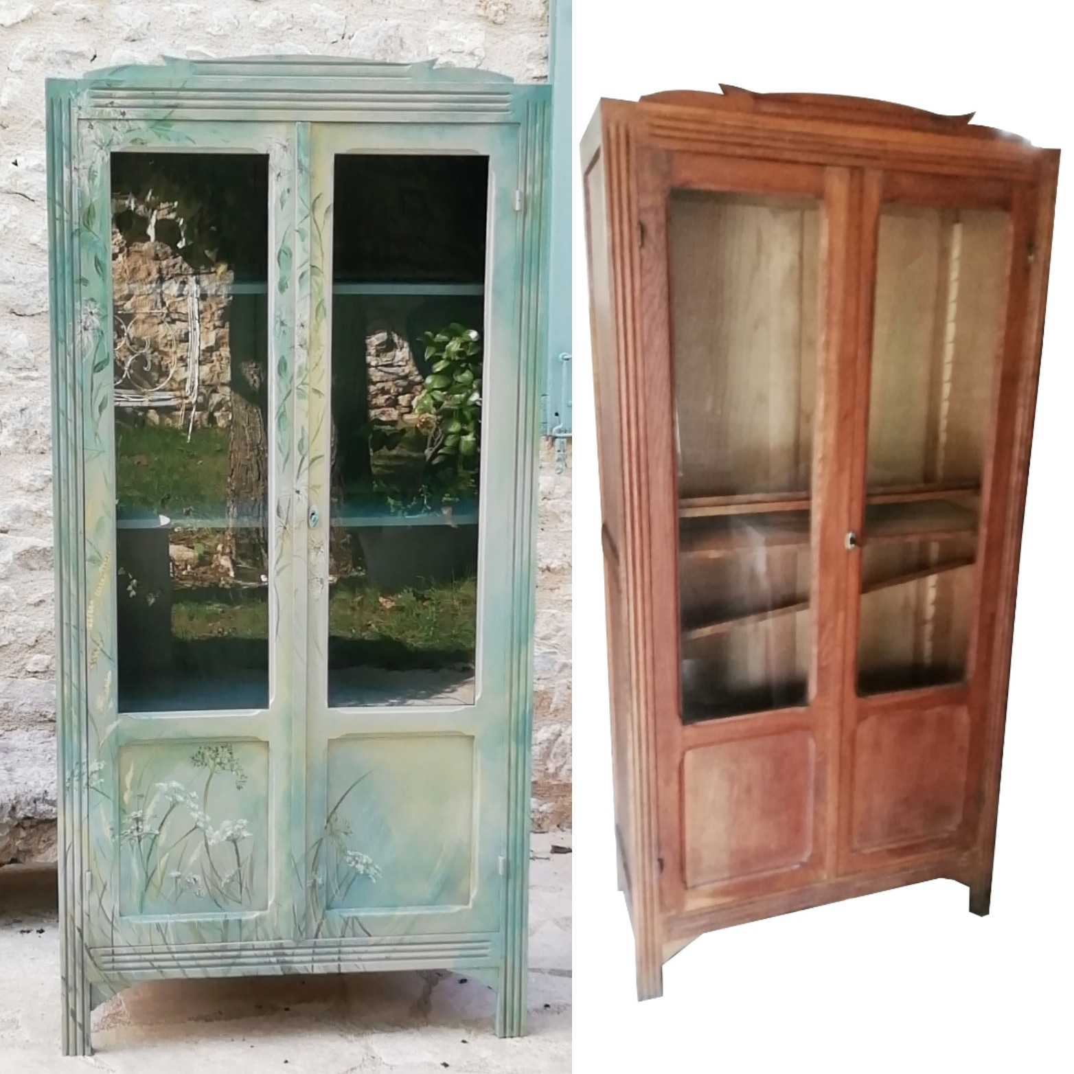 relooking meubles vitrine
