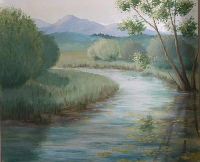 paysage peinture décorative