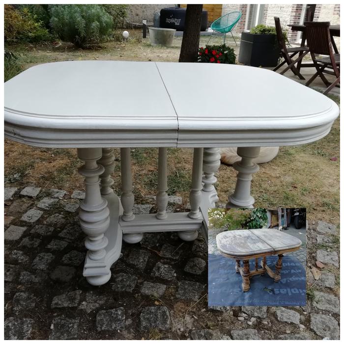 rénovation table craie
