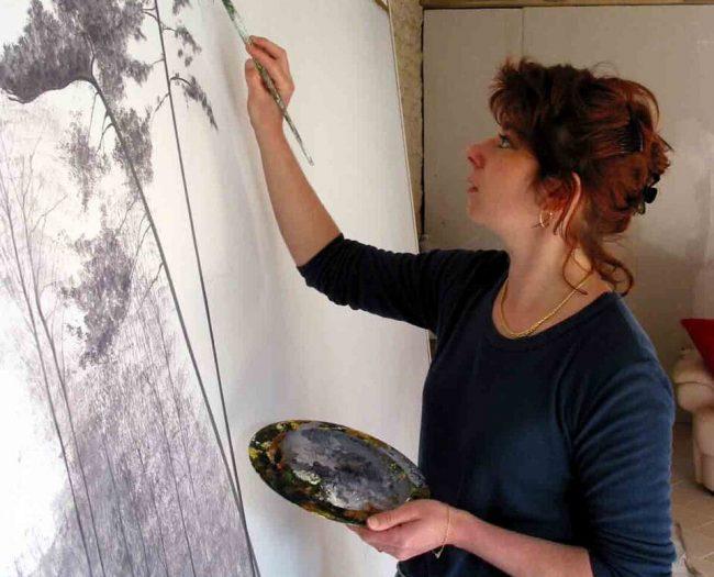 artiste trompe l'oeil décoratrice seine et marne paris